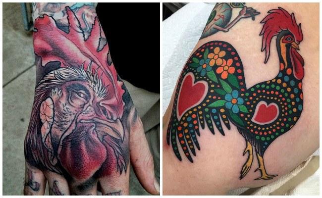 Tatuajes de gallos para mujer