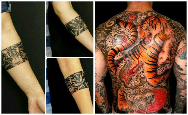 Tatuajes de garras de tigres