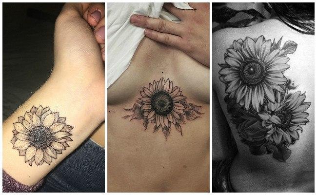 Tatuajes de girasoles y sus diseños