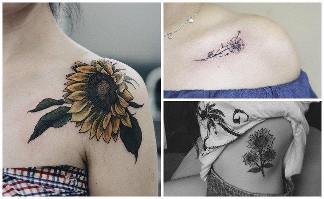 Tatuajes de girasoles en la muñeca