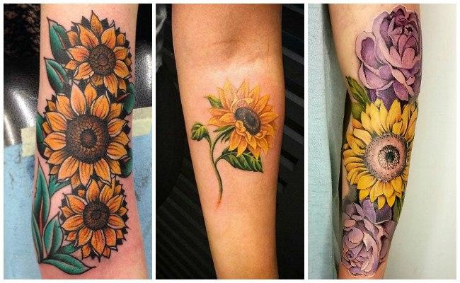 Tatuajes de girasoles y sus fotos
