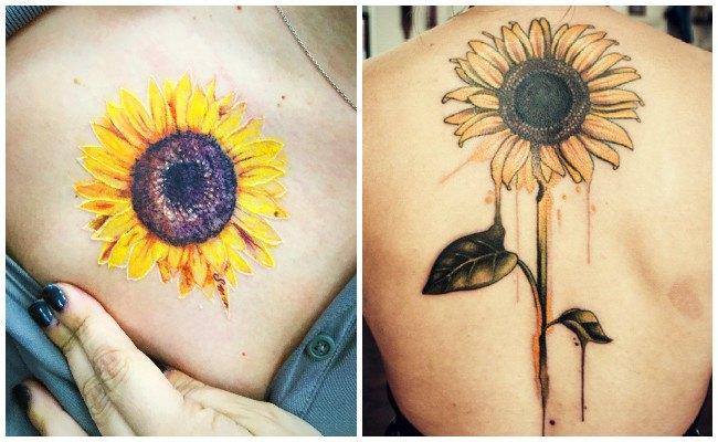 Tatuajes de girasoles para hombre