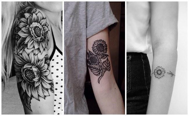 Tatuajes de girasoles para hombres