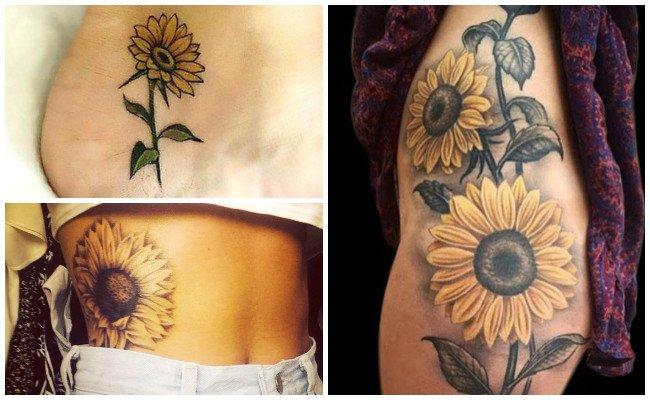 Tatuajes de girasoles para mujer