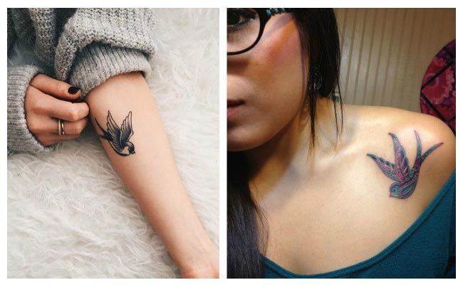 Tatuajes de golondrinas pequeñas