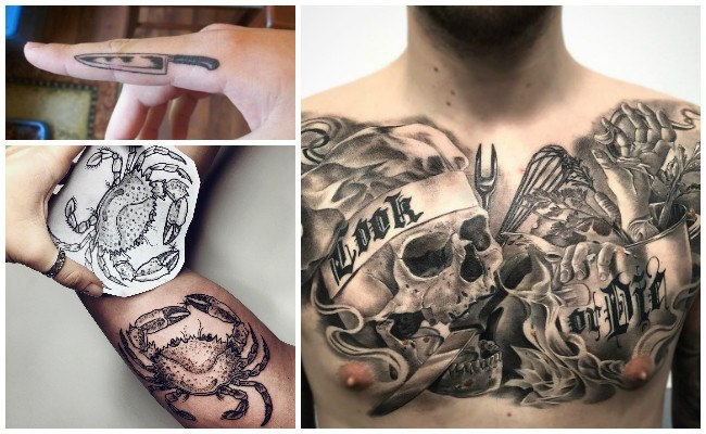 Tatuajes de gorros de chef