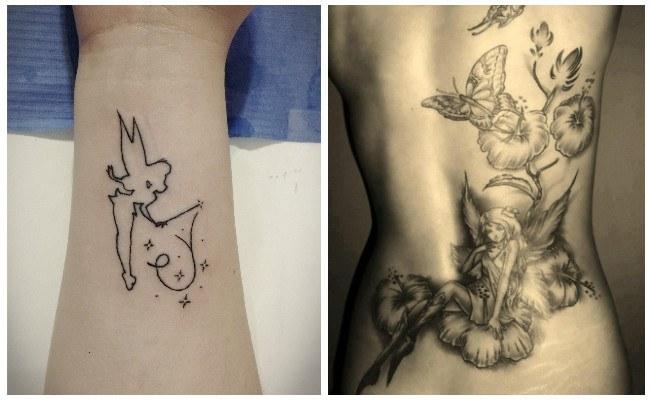 Tatuajes de hadas en la espalda