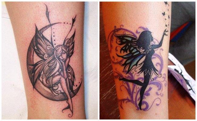 Tatuajes de hadas en el hombro para mujeres