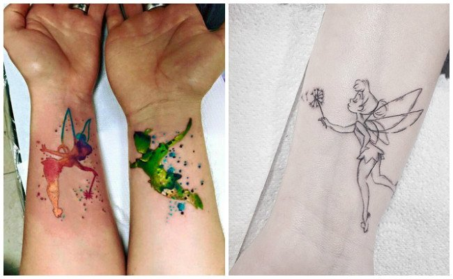 Tatuajes de hadas y lunas