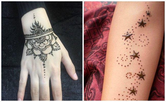 Tatuajes de henna en el pie