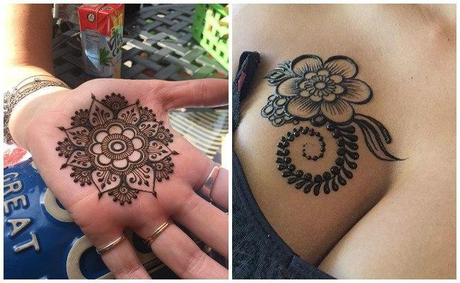 Tatuajes de henna en las manos