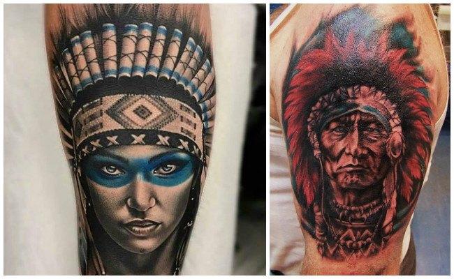 Tatuajes de indios aztecas