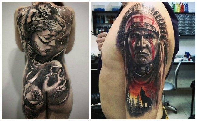 Tatuajes de indios chamanes