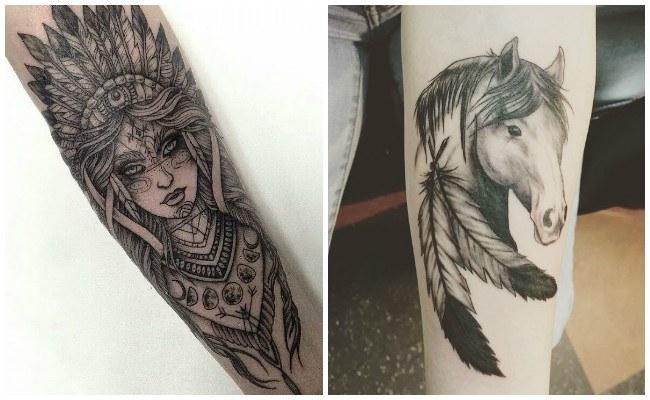 Tatuajes de indios en el brazo