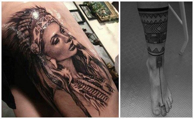 Tatuajes de indios guerreros