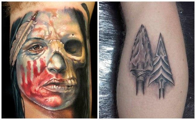 Tatuajes de indios mapuches