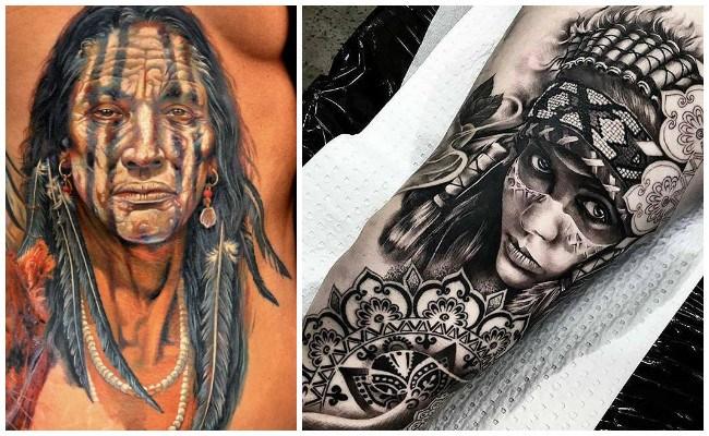 Tatuajes de indios y su significado