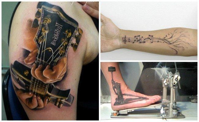 Tatuajes de instrumentos musicales