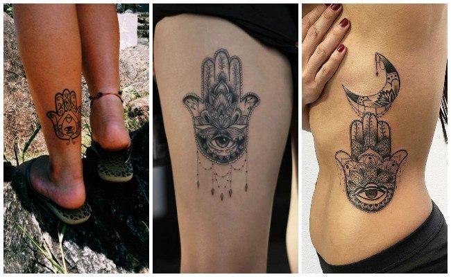 Tatuajes de la mano de fátima o hamsa