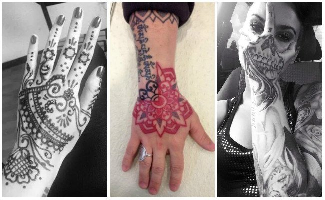 Tatuajes de la mano de fátima