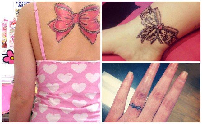 Tatuajes de lazos con flores