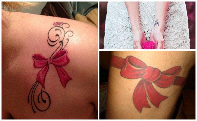 Tatuajes de lazos con nombres