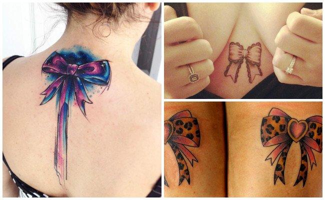 Tatuajes de lazos en la nuca