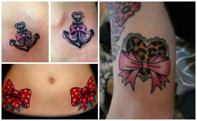 Tatuajes de lazos en los tobillos