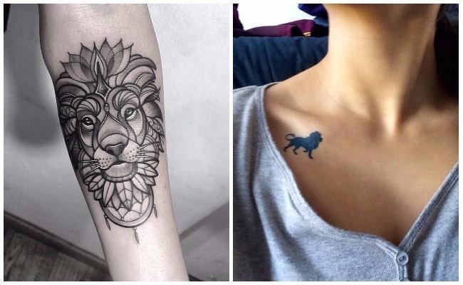 Tatuajes de leones en 3d