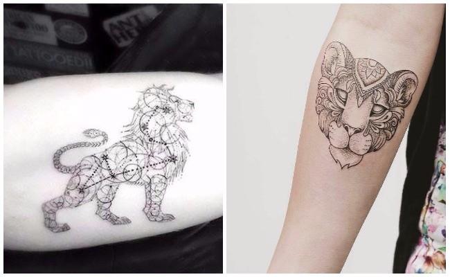 Tatuajes de leones cachorros