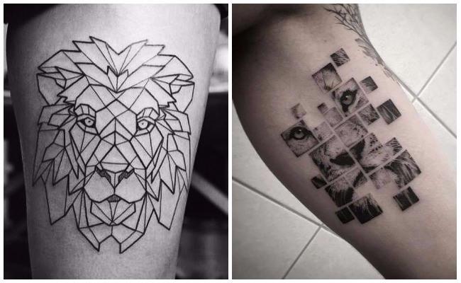 Tatuajes de leones con alas