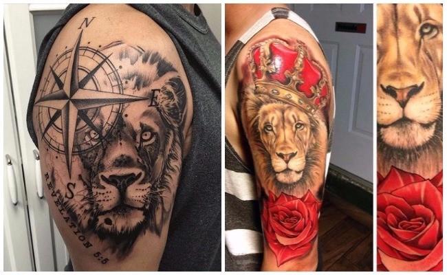 Tatuajes de leones con rastas