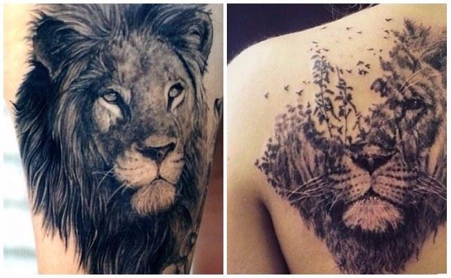 Tatuajes de leones y diseños