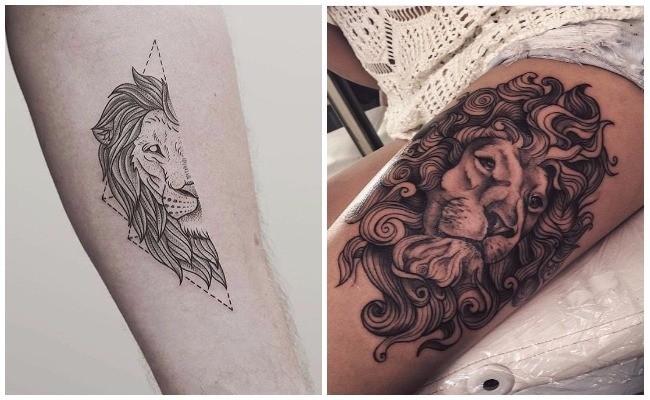 Tatuajes de leones en el hombro