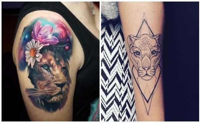 Tatuajes de leones en la muneca