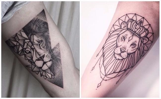 Tatuajes de leones en las costillas
