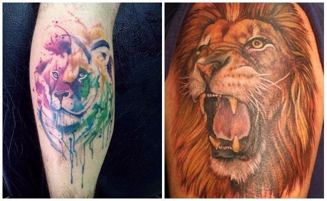 Tatuajes de leones en los pies