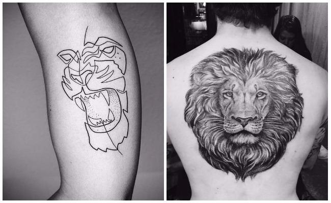 Tatuajes de leones en mujeres