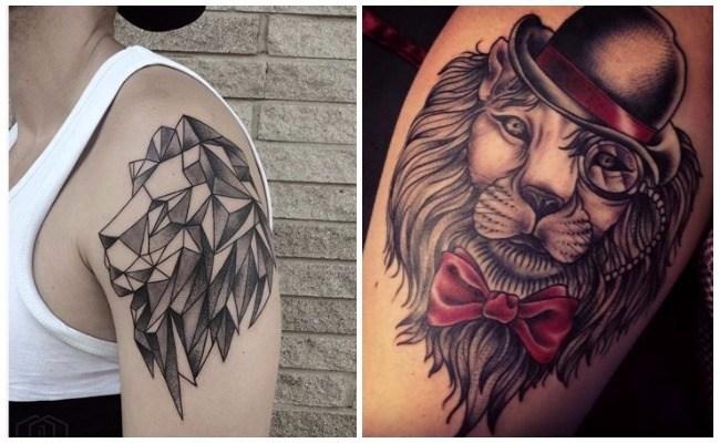 Tatuajes de leones fotos