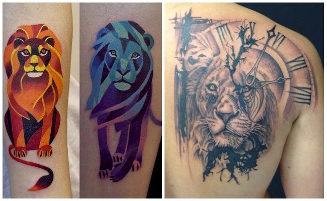 Tatuajes de leones gratis