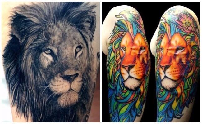 Tatuajes de leones japoneses