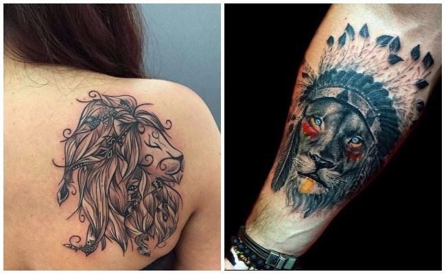 Tatuajes de leones medievales