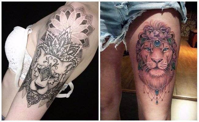 Tatuajes de leones para el brazo