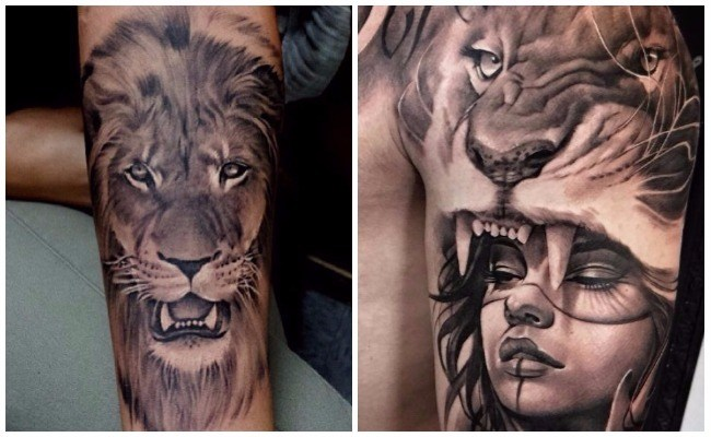 Tatuajes de leones para mujer