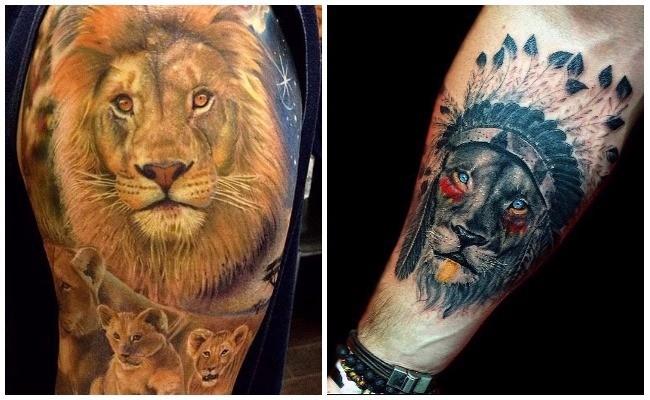 Tatuajes de leones rastafari