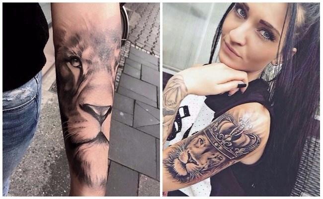 Tatuajes de leones rugiendo