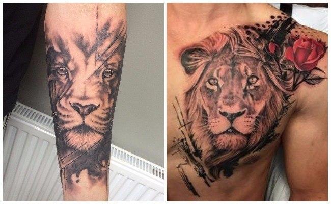 Tatuajes de leones y lobos