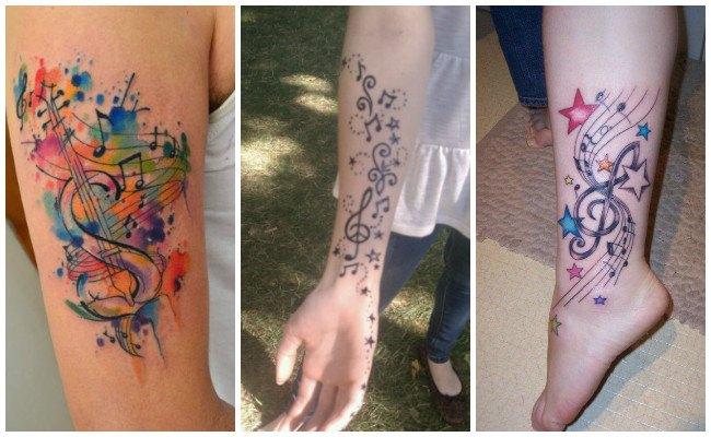Tatuajes de la letra musical