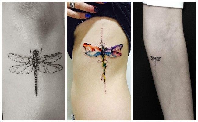 Tatuajes de libélulas en la muñeca