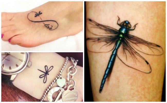 Tatuajes de libélulas con nombres